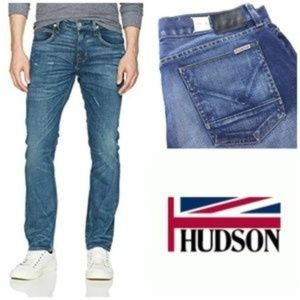 Hudson Bryon 5 Pocket straight Jeans button fly 33